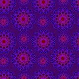 Nahtloses violettes, blaues und rotes Muster Wiederholen des Blumenhintergrundes Lizenzfreie Stockfotografie