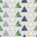 Nahtloses von Hand gezeichnetes Dreieckmuster lizenzfreie abbildung