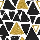 Nahtloses von Hand gezeichnetes Dreieckmuster Lizenzfreies Stockfoto