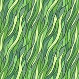 Nahtloses von Hand gezeichnetes Muster mit abstrakten Wellen. Lizenzfreie Stockfotografie