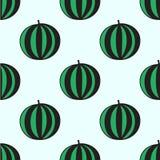 Nahtloses von Hand gezeichnetes Muster mit Wassermelone Lizenzfreies Stockfoto
