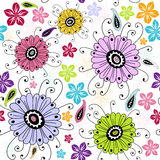 Nahtloses weißes Blumenmuster Stockfotos