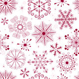 Nahtloses weiß-rotes Weihnachtsmuster Lizenzfreie Stockfotos