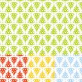 Nahtloses Weihnachtsbaum-Muster Stockbilder
