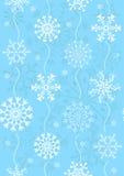Nahtloses Weihnachtsblaues Muster (Vektor) Stockfoto