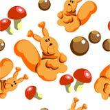 Nahtloses Weihnachtseichhörnchen in Farbe 81 Lizenzfreies Stockfoto