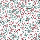 Nahtloses Weihnachtsmuster Stockbild