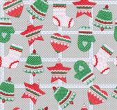 Nahtloses Weihnachtsmuster Lizenzfreies Stockfoto
