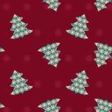 Nahtloses Weihnachtsmuster - Illustration Stockfotografie