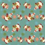 Nahtloses Weihnachtsmuster - Illustration Lizenzfreie Stockfotos
