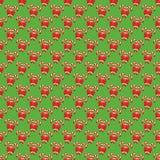 Nahtloses Weihnachtsmuster mit Süßigkeit Cane Stick und rotem Bogen Lizenzfreie Stockbilder