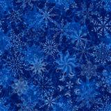 Nahtloses Weihnachtsmuster mit Schneeflocken Stockbild