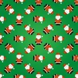 Nahtloses Weihnachtsmuster Sankt stock abbildung