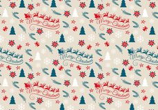 Nahtloses Weihnachtsmuster, Vektor Lizenzfreie Stockfotos