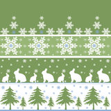 Nahtloses Weihnachtsverzierungsmuster Lizenzfreies Stockbild