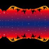 Nahtloses Weihnachtsweise-Packpapier Lizenzfreie Stockfotos