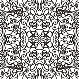 Nahtloses Weinlese-Tapeten-Muster Stockfotografie