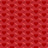 Nahtloses wiederholbares, Muster glücklichen Valentinsgruß ` s Tages mit Herzen und Liebe im roten Thema Stockbilder