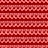 Nahtloses wiederholbares, Muster glücklichen Valentinsgruß ` s Tages mit Herzen und Liebe im roten Thema Lizenzfreies Stockfoto
