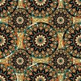 Nahtloses wiederholendes Muster von farbigen Mandalen Stockfotos