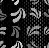 Nahtloses wiederholendes Muster von kleinen Stangen und von abctract Blumenblättern Stockfotos