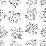 Nahtloses wiederholendes Muster von Tulpen halbtonbild Vektor Lizenzfreies Stockfoto