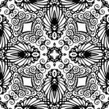 Nahtloses wiederholendes Vektor-Schwarzweiss-Muster Stockbild