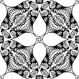 Nahtloses wiederholendes Vektor-Schwarzweiss-Muster Lizenzfreies Stockbild