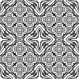 Nahtloses wiederholendes Vektor-Schwarzweiss-Muster Stockfotos