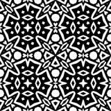 Nahtloses wiederholendes Vektor-Schwarzweiss-Muster Stockbilder