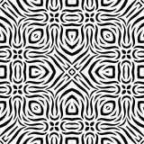 Nahtloses wiederholendes Vektor-Schwarzweiss-Muster Stockfotografie