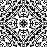 Nahtloses wiederholendes Vektor-Schwarzweiss-Muster Lizenzfreie Stockbilder