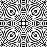 Nahtloses wiederholendes Vektor-Schwarzweiss-Muster Lizenzfreie Stockfotografie