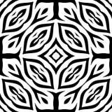 Nahtloses wiederholendes Vektor-Schwarzweiss-Muster Lizenzfreies Stockfoto