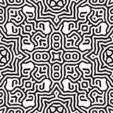 Nahtloses wiederholendes Vektor-Schwarzweiss-Muster Stockfoto