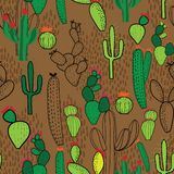 Nahtloses Wiederholungsmuster des Kaktus lizenzfreie abbildung