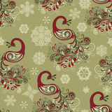 Nahtloses Winter-Muster Stockfoto