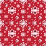 Nahtloses Wintermuster der Schneeflocken, Weihnachtshintergrund Auch im corel abgehobenen Betrag stock abbildung