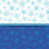 Nahtloses Wintermuster mit Schneeflocken Lizenzfreies Stockbild