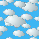 Nahtloses Wolken-Muster Stockfotos