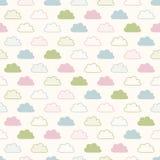 Nahtloses Wolkengewebemuster Stockfotos