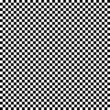 Nahtloses Zielflaggemuster des Vektors Geometrische Beschaffenheit Schwarzweiss-Hintergrund Einfarbiges Design stock abbildung