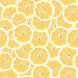 Nahtloses Zitrone-Scheibe-Muster Stockfotos
