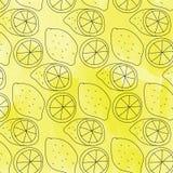 Nahtloses Zitronenmuster Stockbilder