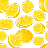 Nahtloses Zitronenmuster Lizenzfreie Stockfotografie
