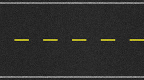 Nahtloses zweispuriges Straßenbeschaffenheitsbild mit gelbem Streifen lizenzfreies stockbild