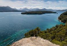 Nahuel Huapi-meer in Patagonië Stock Foto