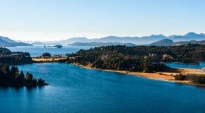 Nahuel Huapi-meer, Patagonië Argentinië royalty-vrije stock afbeelding