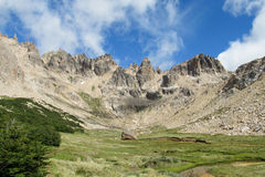 Nahuel Huapi National Park mountain valley Stock Photos
