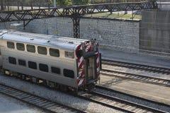 Nahverkehrszug im Yard Chicago Stockfotografie